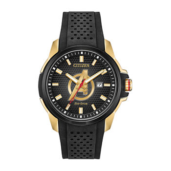 Citizen Marvel Avengers Mens Black Strap Watch-Aw1155-03w