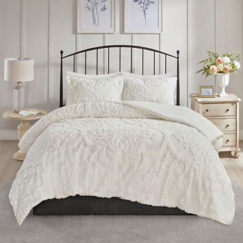 Madison Park Aeriela 3-pc. Damask and Scroll Cotton Comforter Set