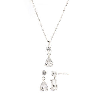 Sparkle Allure 2-pc. Cubic Zirconia Pure Silver Over Brass Jewelry Set