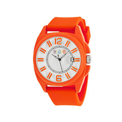 Crayo Sunset Orange Silicone-Band Watch with Date Cracr3307