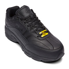 Fila® Memory Workshift Slip-Resistant Steel-Toe Mens Work Shoes