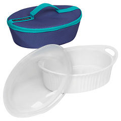 CorningWare® French White® 2.5-qt. Oval Portable Bakeware Set