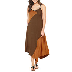 Spense Sleeveless Stripe Maxi Dress