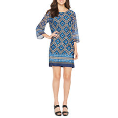 Alyx3/4 Sleeve Diamond Shift Dress