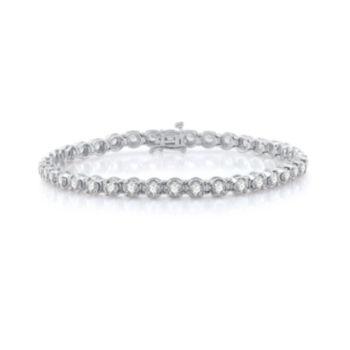 Fine Jewelry diamond blossom 1/4 CT. T.W. Diamond Bracelet