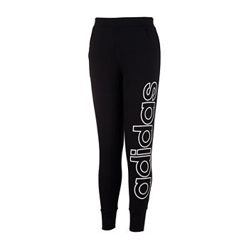 adidas Big Girls Mid Rise Tapered Jogger Pant