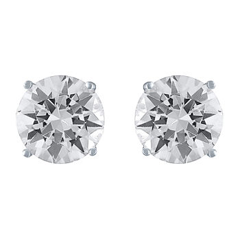 Limited Time Special!! Lab Created White Sapphire Sterling Silver 9mm Stud Earrings