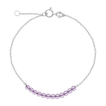 Itsy Bitsy Healing Stone 7 Inch Cable Round Chain Bracelet