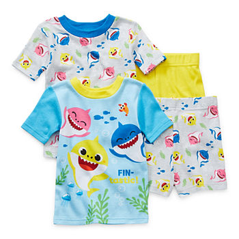 Toddler Boys 4-pc. Baby Shark Shorts Pajama Set