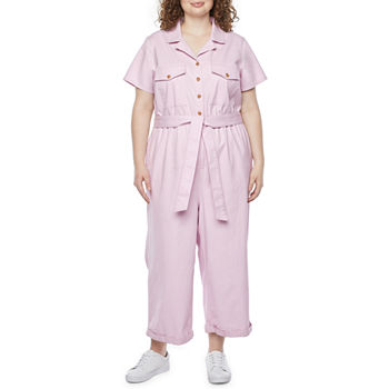 a.n.a Short Sleeve Jumpsuit-Plus