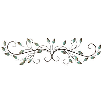 scrolled flowers metal wall art metal wall decor jcpenney