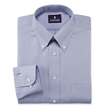Stafford Mens Wrinkle Free Button Down Collar Oxford Dress Shirt