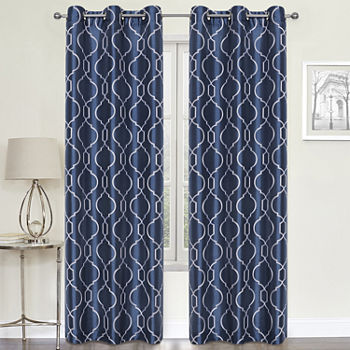 Regal Home Avondale Sheer Grommet-Top Set of 2 Curtain Panel