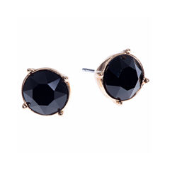 Gloria Vanderbilt® Gold-Tone Jet Black Crystal Stud Earrings