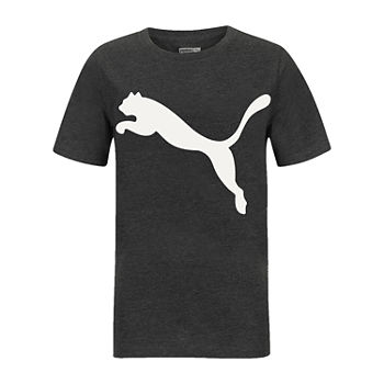 Puma Big Boys Crew Neck Short Sleeve Graphic T-Shirt