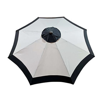 9ft. Two Tone Crank and Tilt Round Patio Umbrella