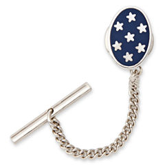 Oval Tie Tack with Stars
