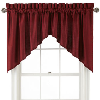 Swag Red Curtains Drapes For Window