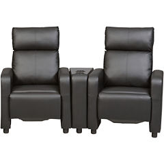 Thomas Faux-Leather 3-pc. Theater Seating Set