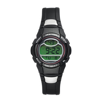 Armitron Pro Sport Mens Digital Black Strap Watch-40/8089reds