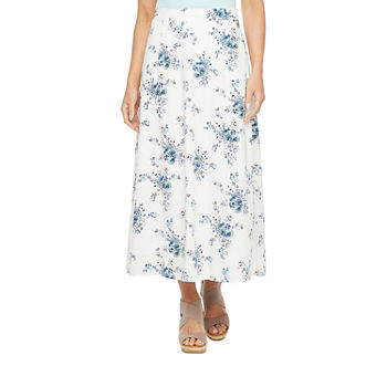 a.n.a Womens Long A-Line Skirt-Tall