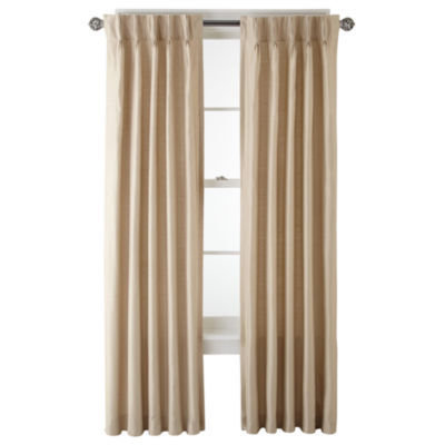 Royal Velvet® Supreme Pinch Pleat/Back Tab Lined Curtain Panel