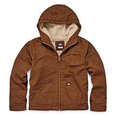 Dickies® Sherpa-Lined Duck Hooded Zip Jacket - Boys 8-20