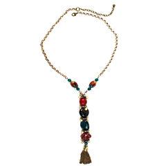 Aris by Treska Necklace with Tassel
