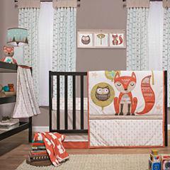 Little Haven 4-pc.  Clever Fox Crib Bedding Set