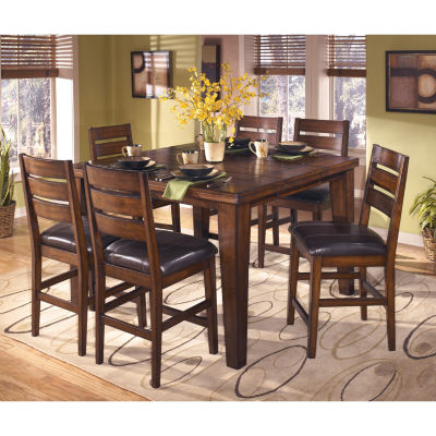 Signature Design By Ashley® Larchmont Counter Height Dining Table With Leaf