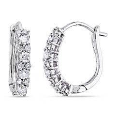 1/2 CT. T.W. White Diamond 14K Ear Cuffs