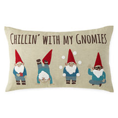 North Pole Trading Co. Chillin' with my Gnomies Throw Pillow
