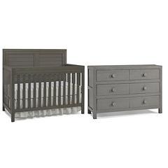 Tiamo Castello 2-PC Baby Furniture Set- Grey