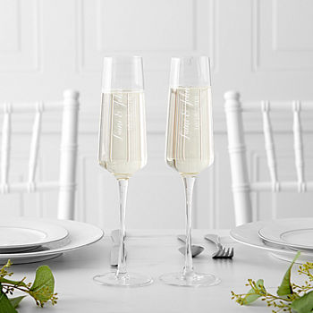c03bbecda36 Cathy's Concepts Personalzie 4-pc. Personalized Champagne Flutes. Clear. $32