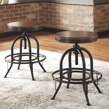 Signature Design by Ashley® Valebeck Counter Height Bar Stool-Set of 2