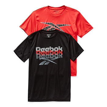 Reebok Big Boys Crew Neck Short Sleeve Graphic T-Shirt