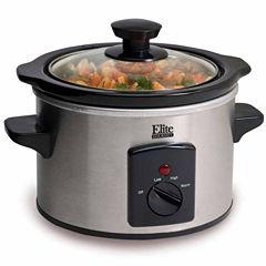 Elite Gourmet MST-250XS 1.5-Quart Mini Slow Cooker, Stainless Steel