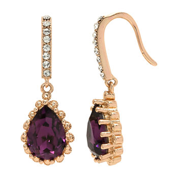 Sparkle Allure Crystal Pure Silver Over Brass Drop Earrings Made With Swarovski Elements