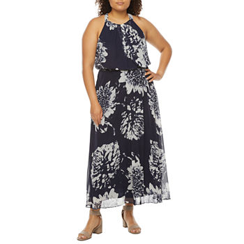 Studio 1-Plus Sleeveless Floral Maxi Dress