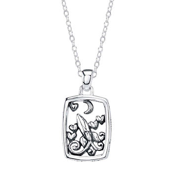 Footnotes Sisters Sterling Silver Pendant Necklace