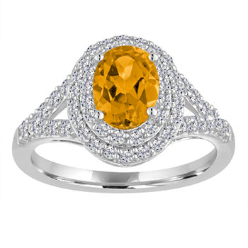 diamond superoro citrine jewelry smoky set ring yellow topaz rings
