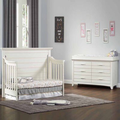 Olzo Baby Crestwood 2-PC Baby Furniture Set- Oyster White & Baby Cribs Crib Sets \u0026 Convertible Cribs - JCPenney