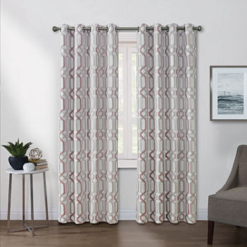 Regal Home Walker Light-Filtering Grommet-Top Single Curtain Panel