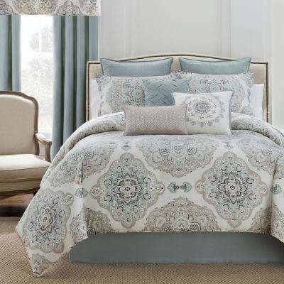 eva longoria home briella 4pc comforter set u0026 accessories - Grey Comforters