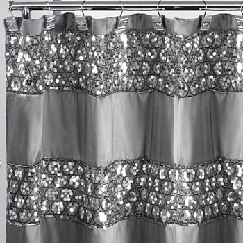 gray and black shower curtain. shop the collection  Black Shower Curtains for Bed Bath JCPenney