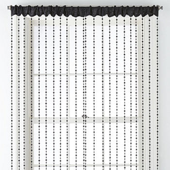 Regal Home Adriana Bead Light-Filtering Rod-Pocket Single Curtain Panel