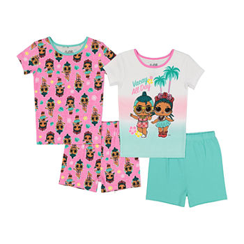 LOL Surprise! Little & Big Girls 4-pc. LOL Shorts Pajama Set