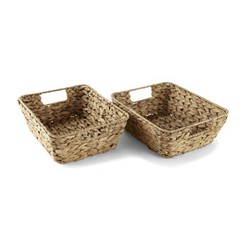 Enchante 2pc Set Natural Storage Tray