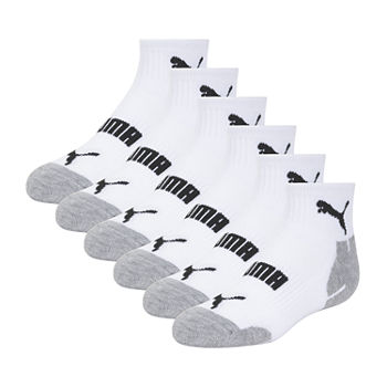Puma Boys Little & Big Boys 6 Pair Quarter Socks