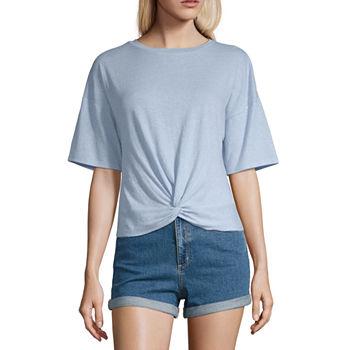 85aa375ee405 Arizona-Womens V Neck Short Sleeve T-Shirt Juniors. Add To Cart. Few Left